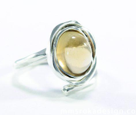 pierścionek srebrny MMP27a