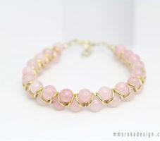 Bransoletka z kwarcem różowym MMB18