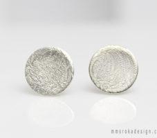 Kolczyki srebrne kółka MMK36