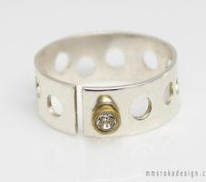 Pierścionek srebrny z cyrkonią MMP55