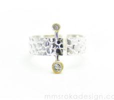 Obrączka srebrna MMP68