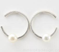 Kolczyki okrągłe z perłą MMK48