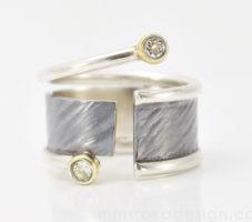 Obrączka srebrna oksydowana MMP81 [na zamówienie]