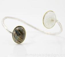 Bransoletka srebrna z labradorytami MMB35