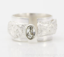 Obrączka srebrna MMP95