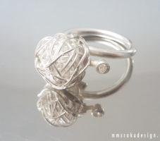 Pierścionek srebrny MMP96