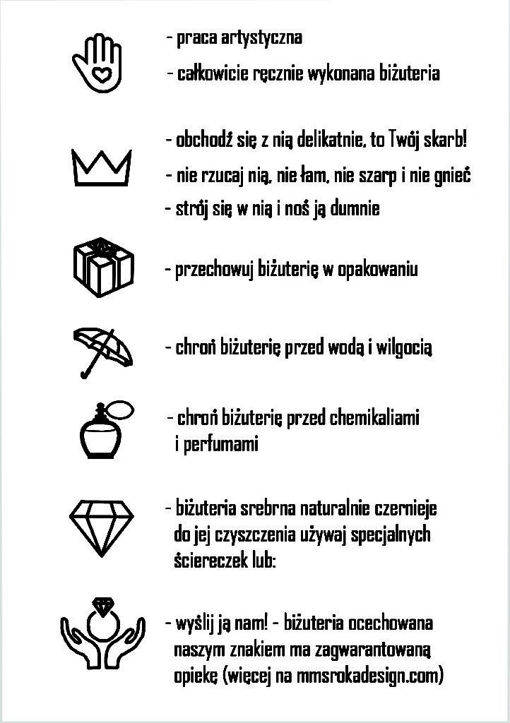 kartka z zasadami pielęgnacji