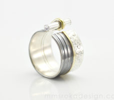 Obrączka srebrna MMP77