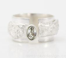 Obrączka srebrna MMP95 [sprzedany]