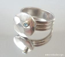 Pierścionek srebrny MMP97