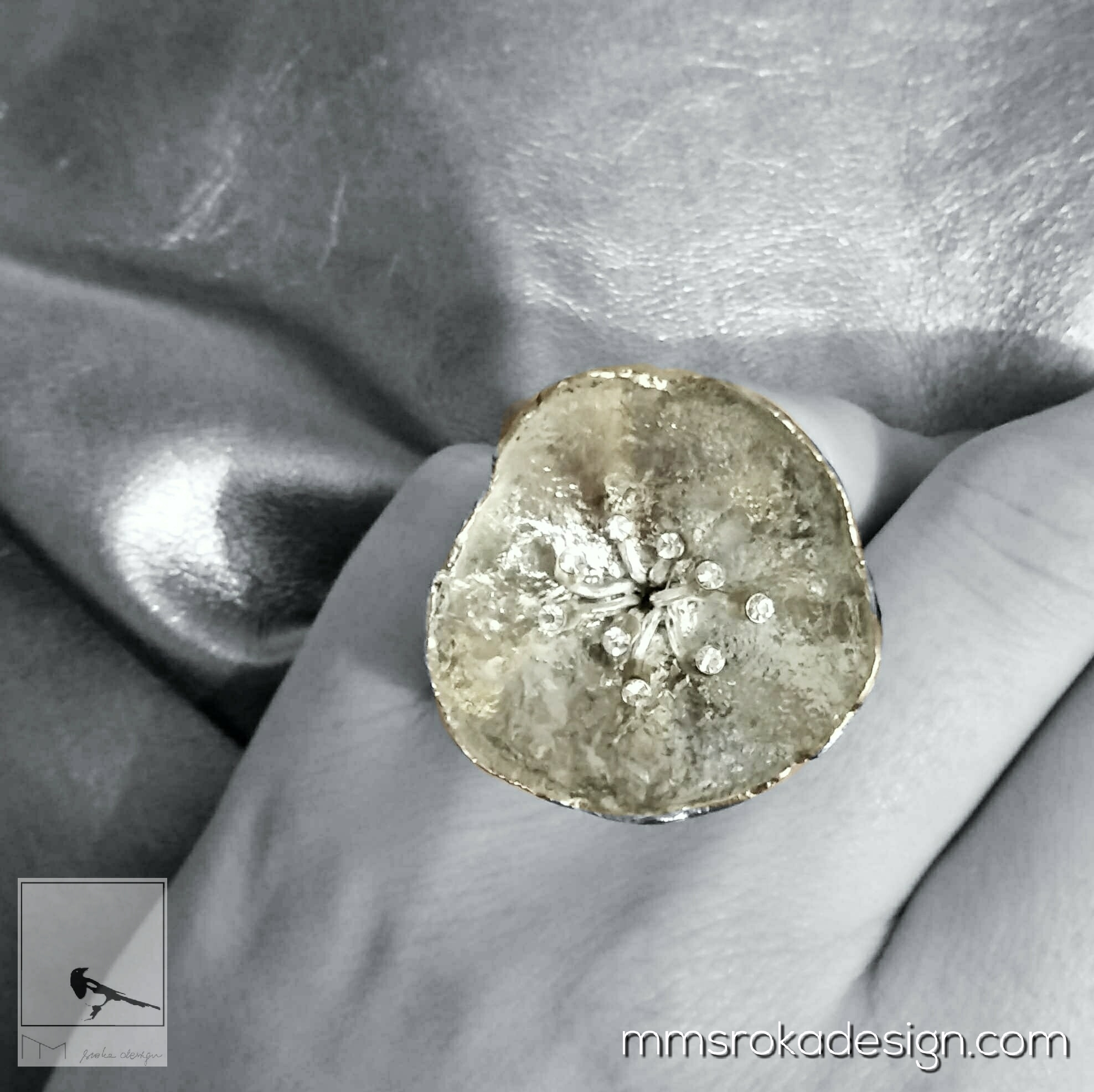 Pierścionek srebrny MMP103