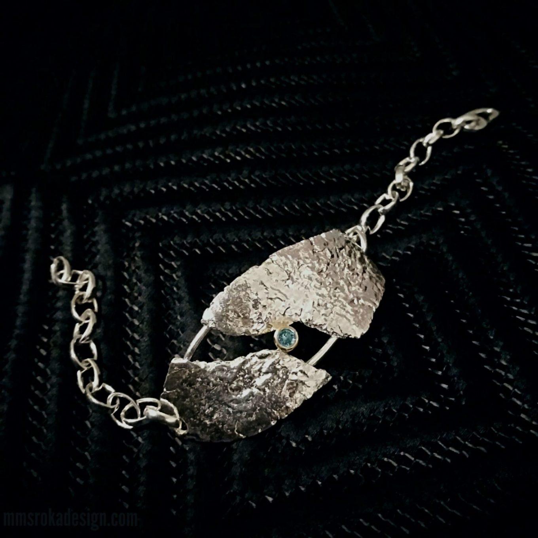 Bransoleta srebrna MMB44