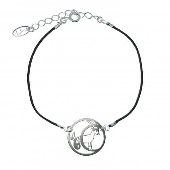 bransoletka ze znakiem zodiaku koziorożec