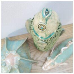 ceramiczna figurka ryba
