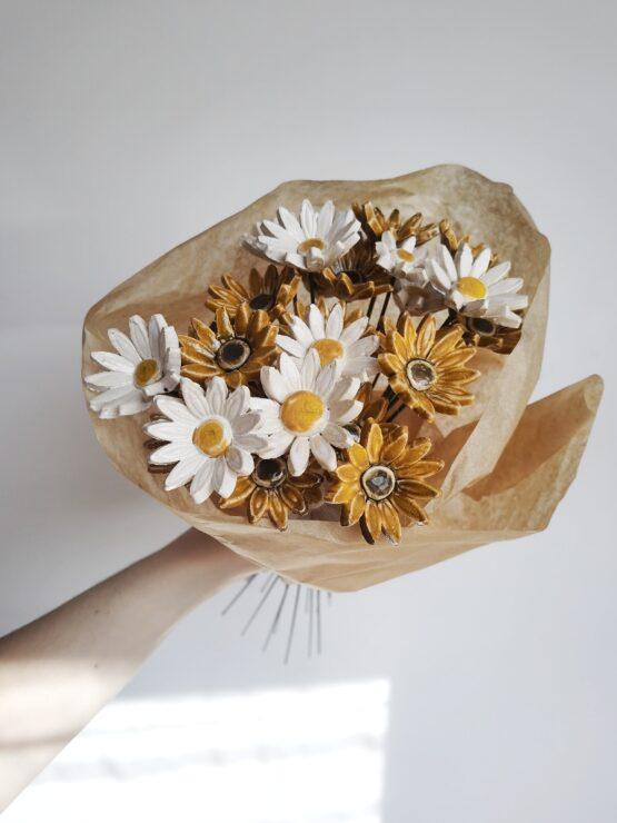 kwiaty ceramiczne stokrotka rudbekia