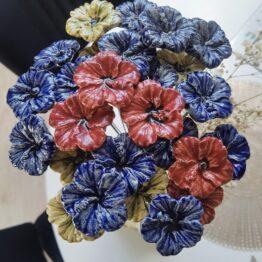 kwiaty z ceramiki hibiskus