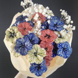 ceramiczne kwiaty hibiskus