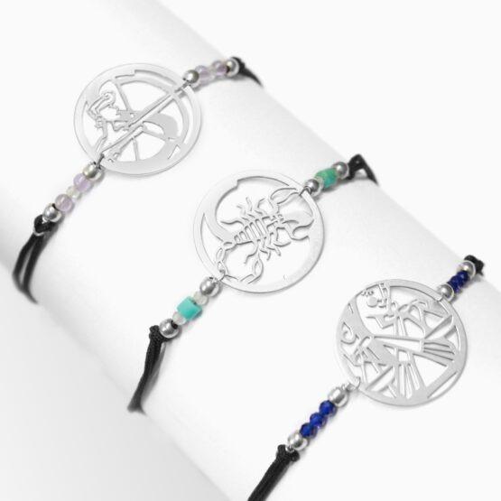znaki zodiaku bransoletka z kamieniami