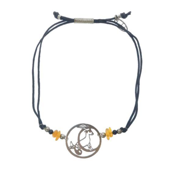 bransoletka ze znakiem zodiaku i kamieniami naturalnymi