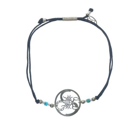 skorpion znaki zodiaku bransoletka z kamieniami naturalnymi