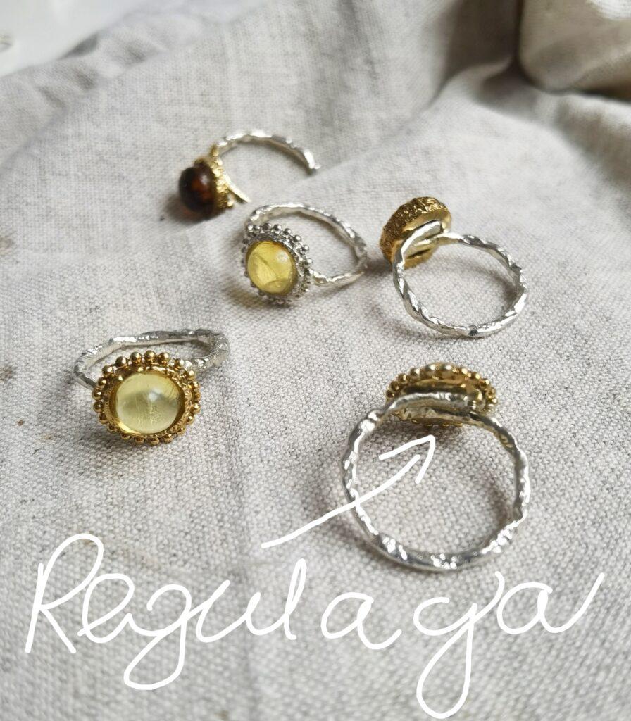mm sroka design pierścionek z regulacją