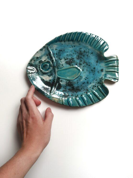 patera - ceramiczna ryba